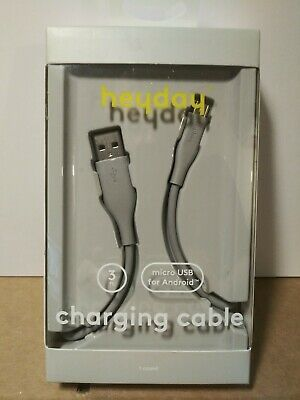 Heyday Charging Cable 3' micro USB for Android Round Cable