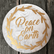 Christmas Golden Circular Wall Decor