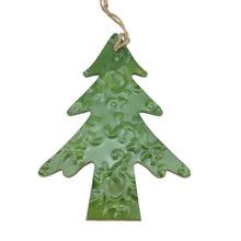 Christmas Ornament  With Embelished Metal Overlay 6 Styles