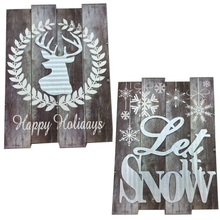 Christmas Wall Plaque - 2 Styles