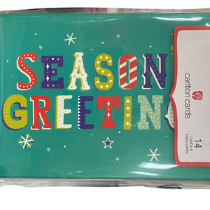 "Carlton Cards ""Season's Greetings""- 14 Count"