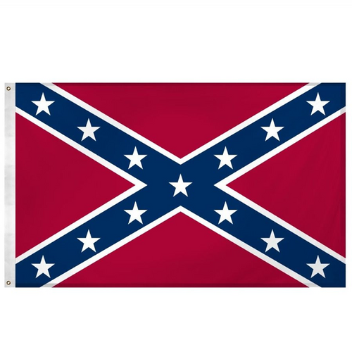 Polyester Confederate Rebel Battle Flag - 5 Feet x 3 Feet