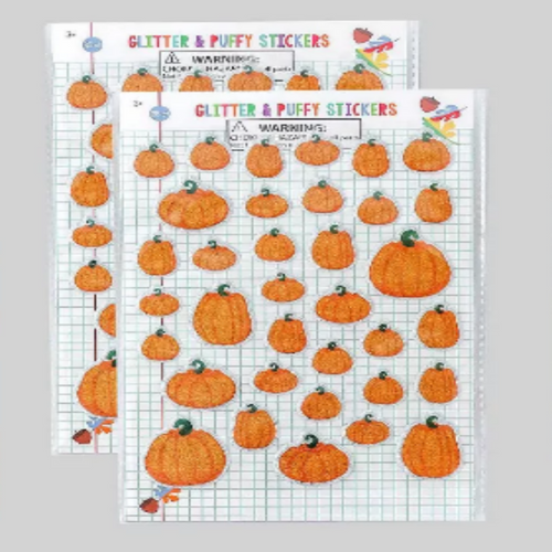 Pumpkin Glitter and Puffy Stickers