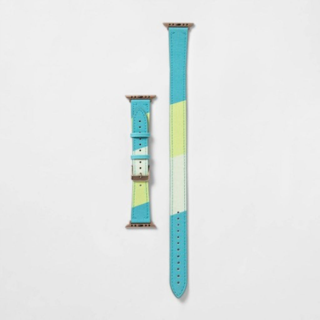 Heyday Blue and Green Double Apple Watch Band