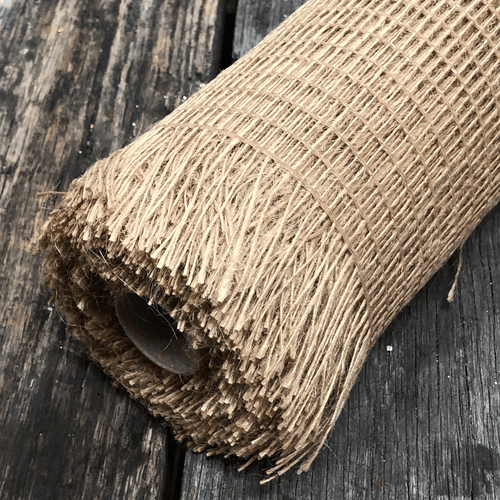 Dark Natural Frayed Burlap Mesh 10 Inch 10 Yard Roll
