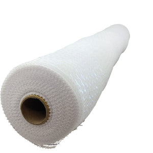 Designer Netting 21 Inch White With Iridescent Foil