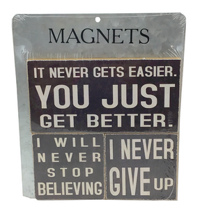 """Don't Give Up"" Sayings Magnets - Set of Three"