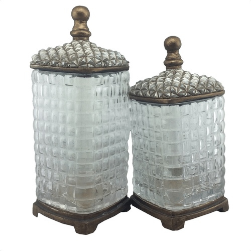 Elegant Glass Jars - 2 Piece Set