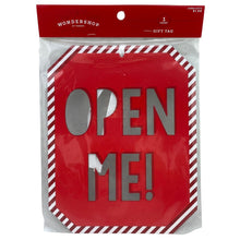 "Extra Large Gift Tag - ""Open Me"""