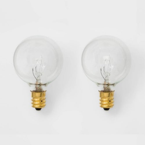2 Pack Clear Replacement Bulbs