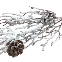 31 Inch Snow Branch And Pinecones Spray