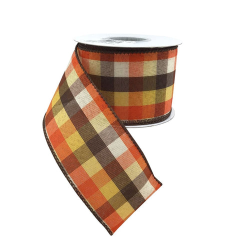 Classic Check Country Field Plaid Ribbon #40
