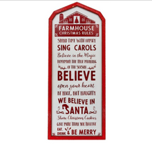 Farmhouse Christmas Rules Wall Hanging