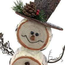 Faux Wood 22 Inch Standing Snowman