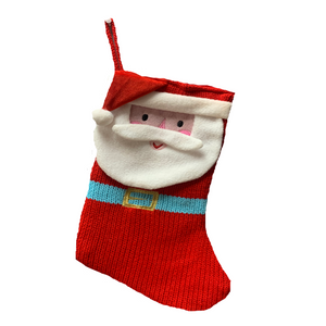 Red Stitched Santa Clause Design Stocking