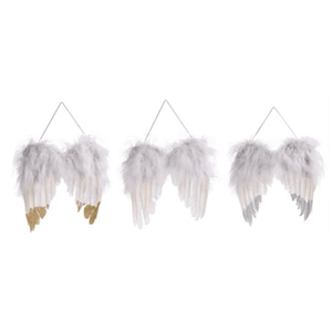 Feathered Angel Wing Decor - 3 Styles