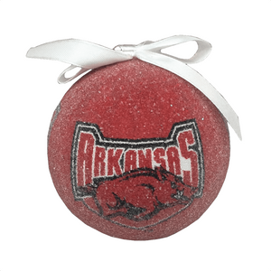 Frosted Styrofoam Arkansas University Logo Balls - Set of 3