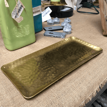 Gilded Rectangle Gold Hammered Plate