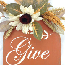 Give Thanks Wood Tag