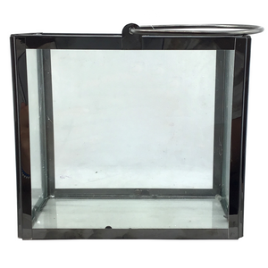 Glass and Chrome Lantern - 2 Sizes