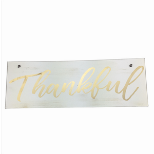Golden Blessing & Thankful Signs