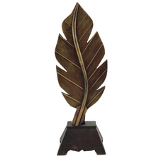 Golden Wooden Leaf Sitter - 2 Sizes