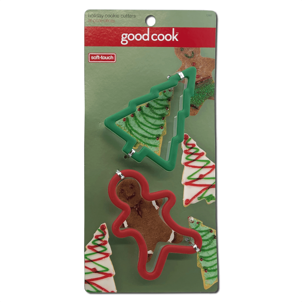 Good Cook 2 Pack Christmas Cookie Cutters Tree and Gingerbread