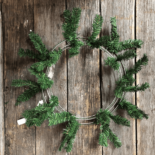 24 in. Pine Work Wreath - Green