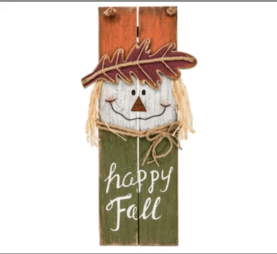 Hanging Happy Fall Wood Sign