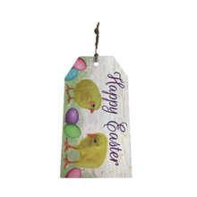 "12""L X 6.5""H Happy Easter Tag Sign"
