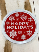 Happy Holidays Christmas Plate