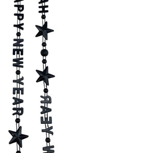 Novelty Beads Happy New Year Necklace