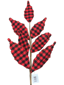 Holly Leaf Buffalo Plaid Spray In Two Colors