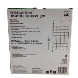 Home Accents Holiday 150 Mini Warm White Led Net Lights