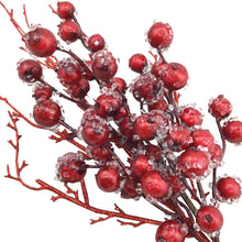 Iced Berry and Glitter Twig Spray- 19 Inch