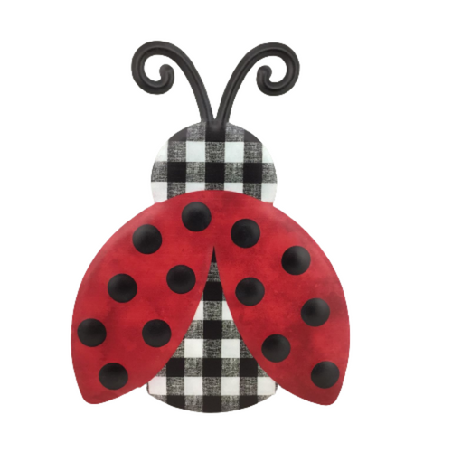 Metal Embossed Ladybug 12 Inch Sign