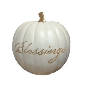 Large Fall Pumpkin Decor With Sayings