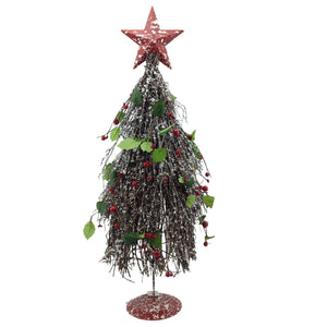 Large Twig Holly Tree With Star