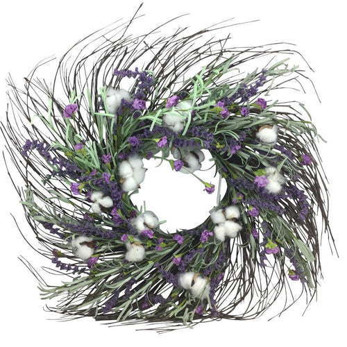 Lavender Cotton Wreath 24 Inch