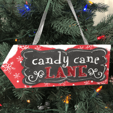 Layered Arrow Ornament- Candy Cane Lane