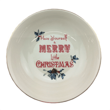 "Lenox 11.1"" Have Yourself a Merry Little Christmas Bowl- 2 Styles"