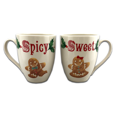 Lenox Sweet & Spicy Gingerbread Mugs - Set of 2