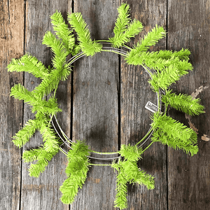 24 in. Pine Work Wreath - Lime Green