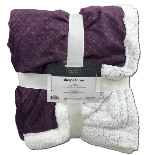 Living Comfort Sherpa Throw Blankets 7 Styles/Colors