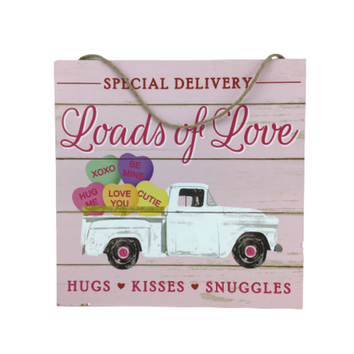 10 Inch Loads Of Love/Hearts/Truck Sign
