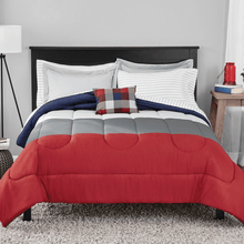 Mainstays Colorblock Eight Piece King Size Comforter Set