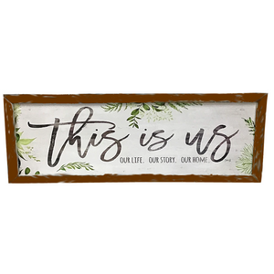 "36.5"" x 13"" Vintage Wooden ""This is Us"" Wall Art"