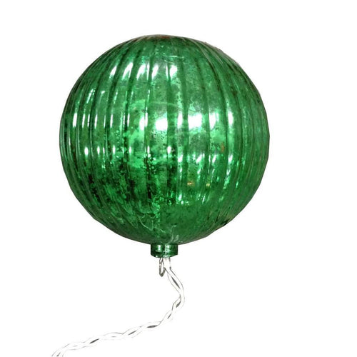 Mercury Plastic Ball Ornament Green 150 MM 6 inches
