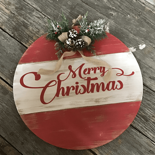Merry Christmas Ornament Sign.Christmas Decor Accents
