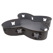 Metal Butterfly Tray Set of 3
